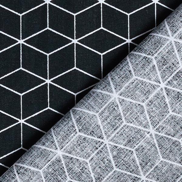 Baumwollstoff Cretonne Grafisch – schwarz