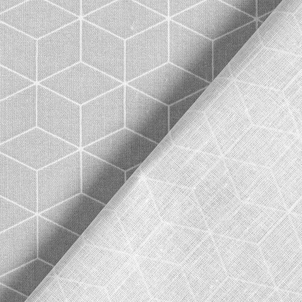 Tissu en coton Cretonne  Cube – gris