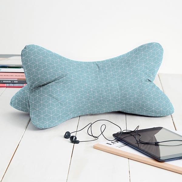 Tissu en coton Cretonne  Cube – turquoise