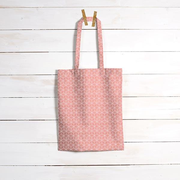 Tissu en coton Cretonne Cube – terre cuite