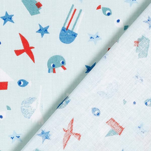 Tissu en coton Cretonne Maritime – bleu