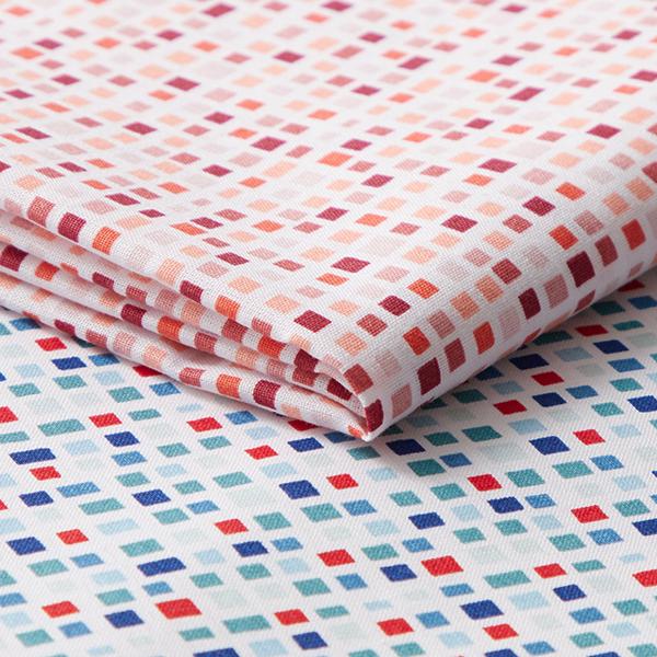 Tissu en coton Cretonne Carreaux – bleu