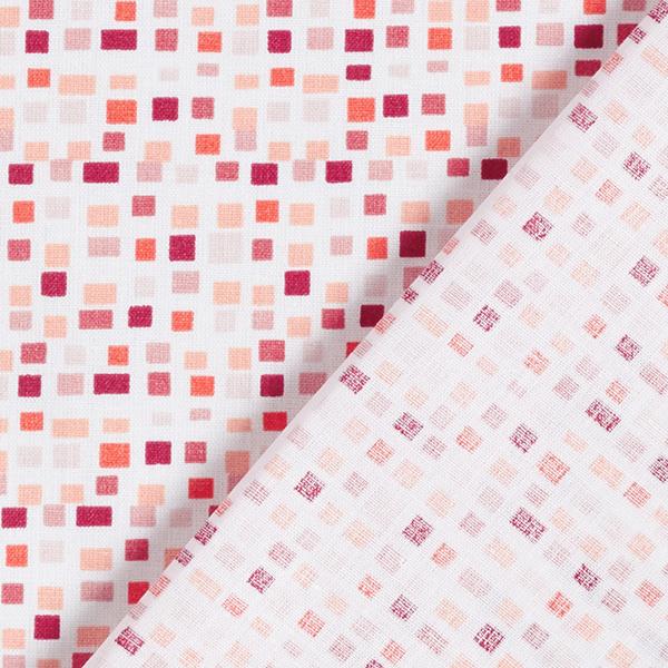 Tissu en coton Cretonne Carreaux – rouge