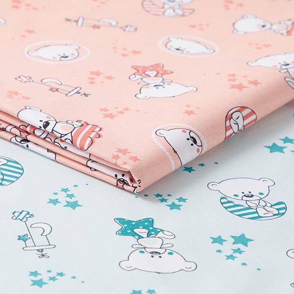 Tissu en coton Cretonne Ours étoilé – saumon