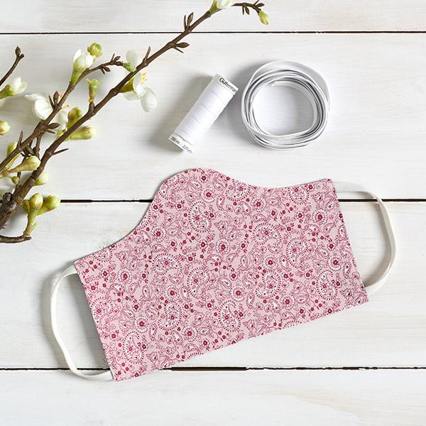 Tissu en coton Cretonne Paisley – rose