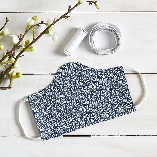 Tissu en coton Cretonne Paisley – bleu marine