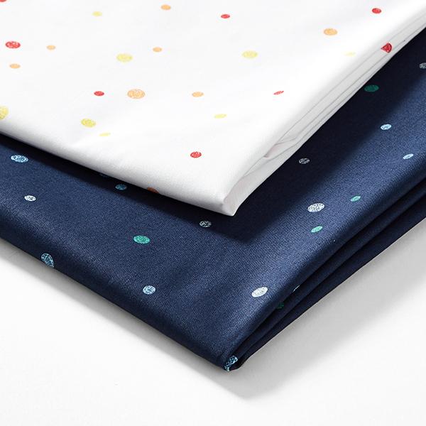 Tula popeline coton aspect griffonnage points GOTS – blanc