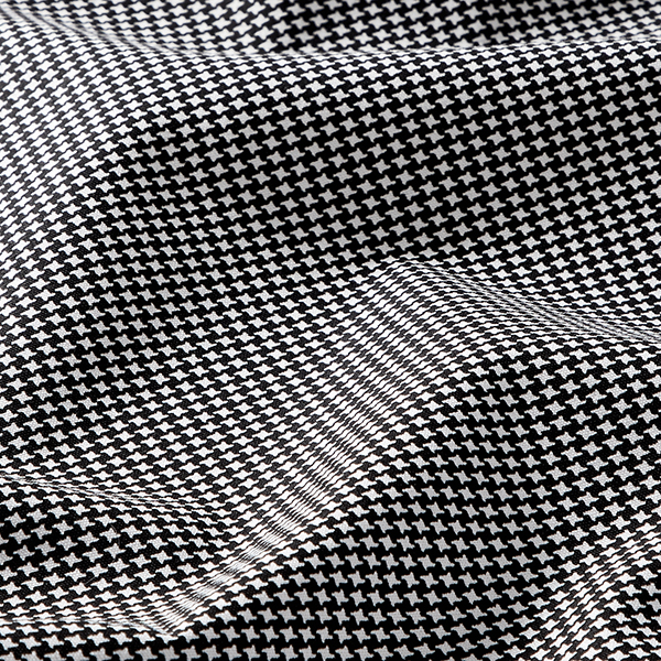 Tula Popeline coton mini pied-de-poule GOTS – noir/blanc
