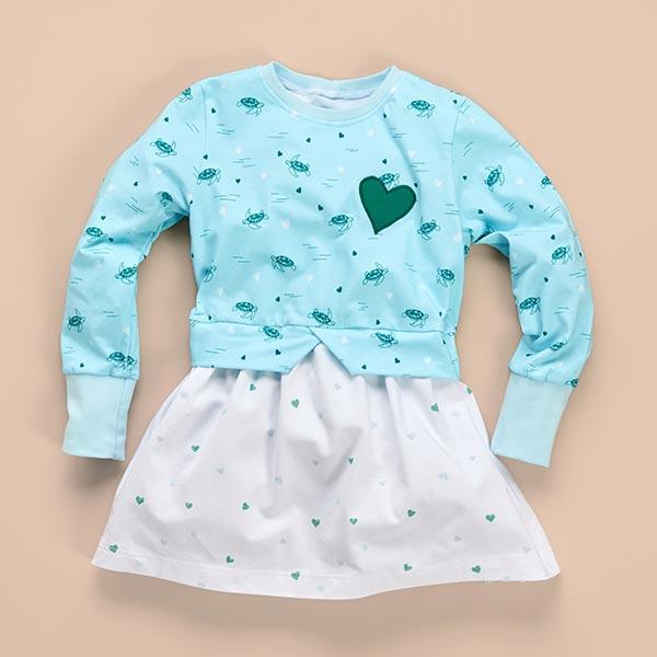 Tula Kids Jersey coton Tortue GOTS – bleu clair