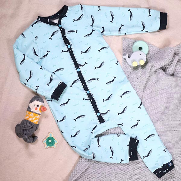 Tula Kids Coton Sweatshirt Vagues GOTS – navy