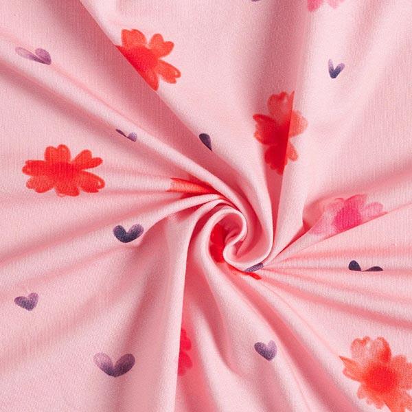GOTS Baumwolljersey Aquarell Blumen | Tula – rosa