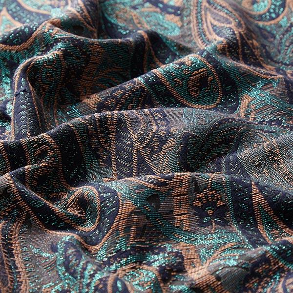 Jacquard motif paisley lurex – bleu marine