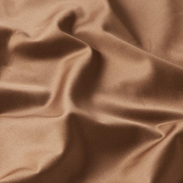 Satin stretch Mélange coton noble – marron clair