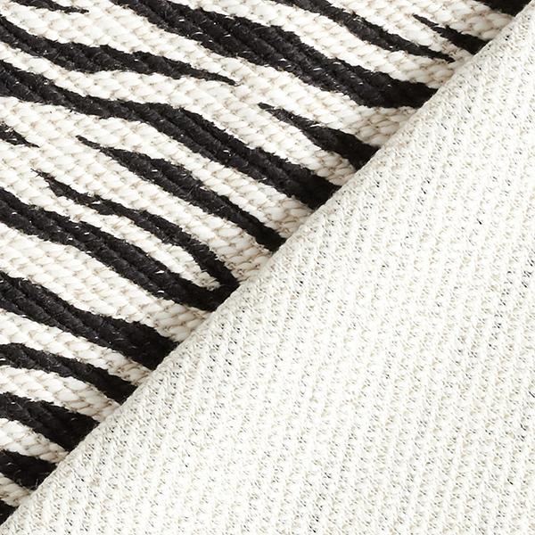 Maille coton aspect bouclé Motif zèbre – noir/écru