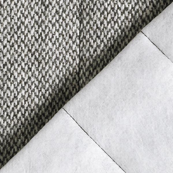 Tissu matelassé pour manteaux laine mélangée – gris/blanc