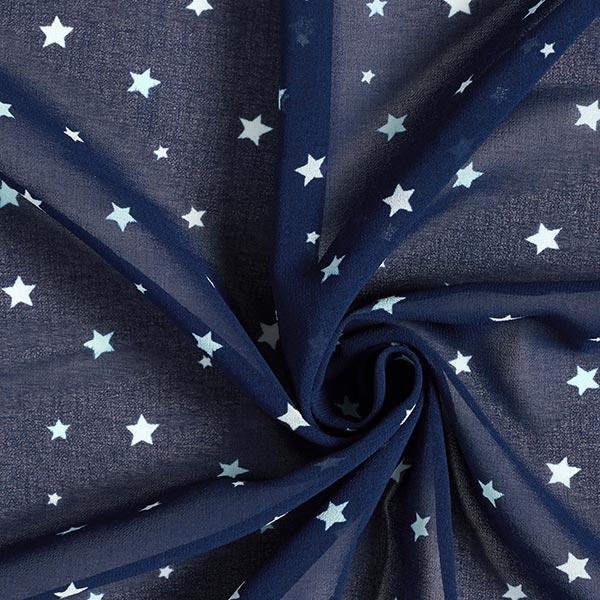 Chiffon Ciel étoilé – bleu marine/blanc