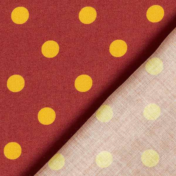 Tissu fin en viscose Points [1 cm] – rouge rouille/curry