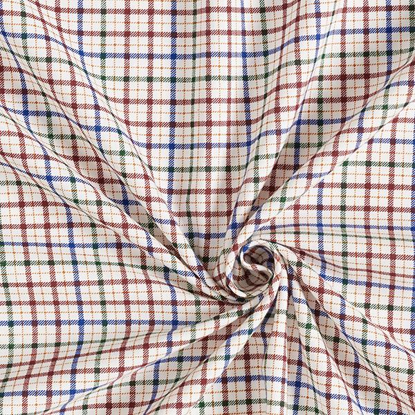 Twill léger pour chemise Motif carreaux – vert/bleu roi