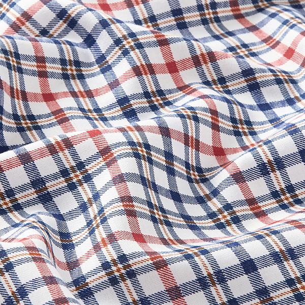 Twill léger pour chemise Motif carreaux – bleu marine/terre cuite