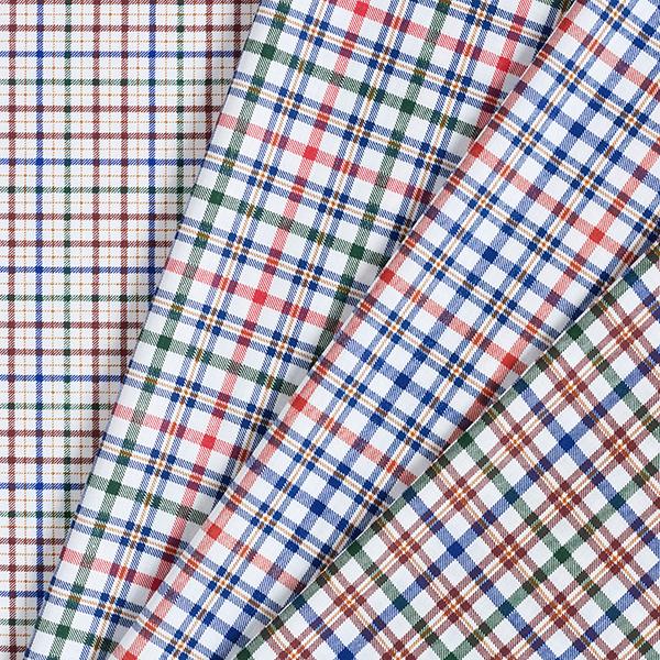 Twill léger pour chemise Motif carreaux – marron/bleu marine