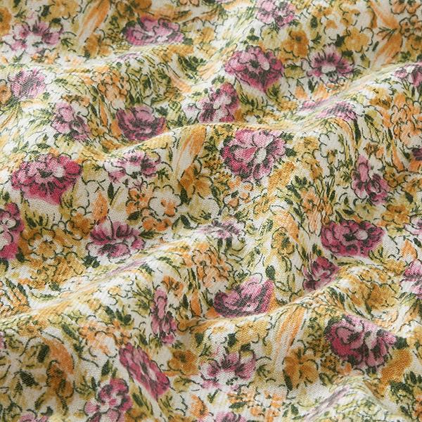 Twill Floraison splendide – violet/orange