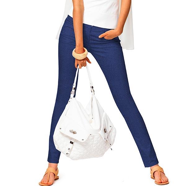 Tissu pour pantalon velours – bleu marine