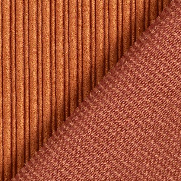 Cord feine & breite Rippen uni – bronze