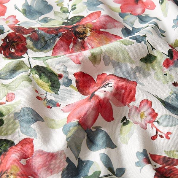 Tissu de décoration Impression numérique Aquarellblumen – rouge