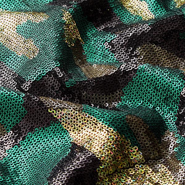 Jersey à paillettes Camouflage – vert/bronze