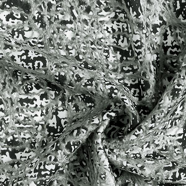 Chiffon Broderie en feutre abstraite – noir/gris
