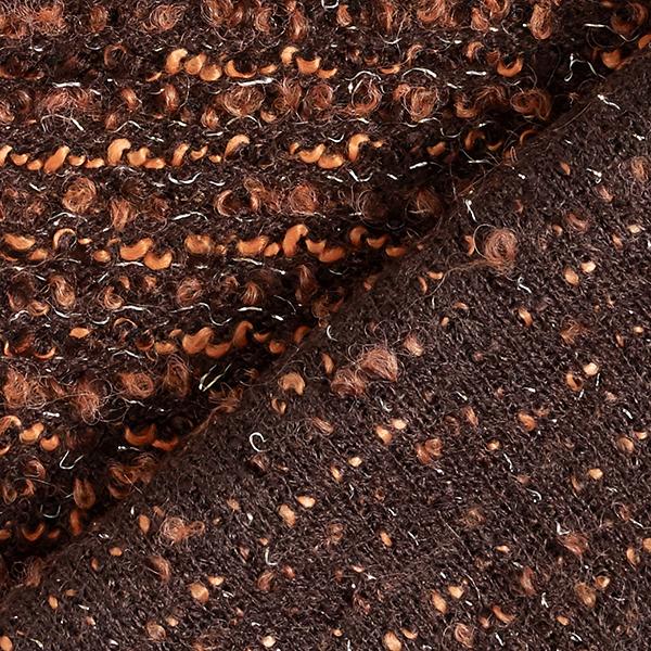 Tricot Bouclé Pina – terre cuite/marron
