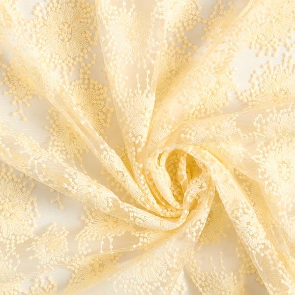 """Dentelle de tulle Broderie à paillettes """"Queen Anne´s Lace"""" – jaune clair"""