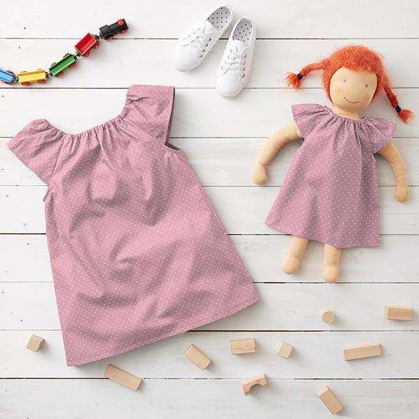 Tissu coton Points – rose