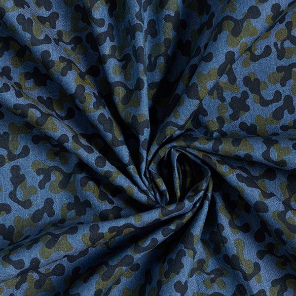 Chambray Camouflage – bleu jean/kaki