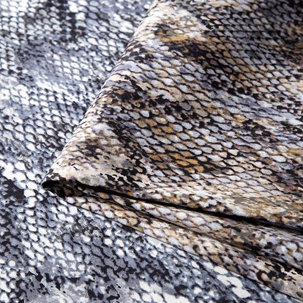 Stretch pour pantalon Imprimé serpents – bleu jean/gris clair