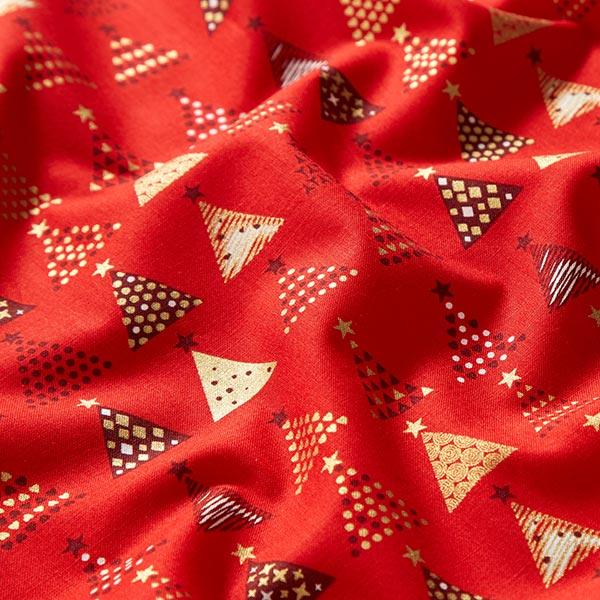 Tissu en coton cretonne Sapins de Noël – rouge