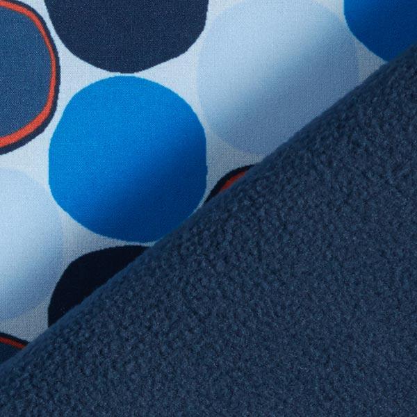 Softshell Cercles – bleu/orange