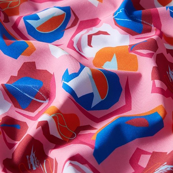 Softshell Motifs abstraits – rose vif/bleu roi
