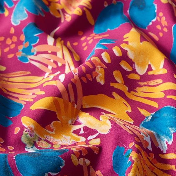 Softshell Fleurs aquarelles abstraites – baies/orange