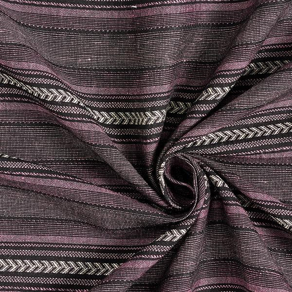 Tissu en viscose rayures aztèques – noir/rose vif