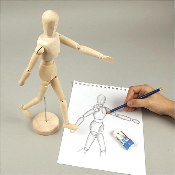 Mannequin articulé Homme [Dimensions: 30cm]
