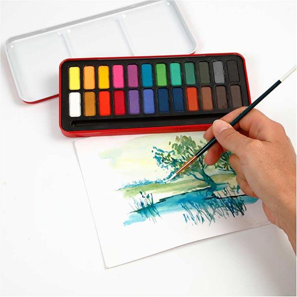 Set de couleurs aquarelles [ 24Pièces ]