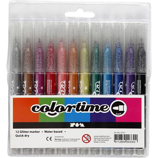 Colortime Marqueur à paillettes [12Pièces ]