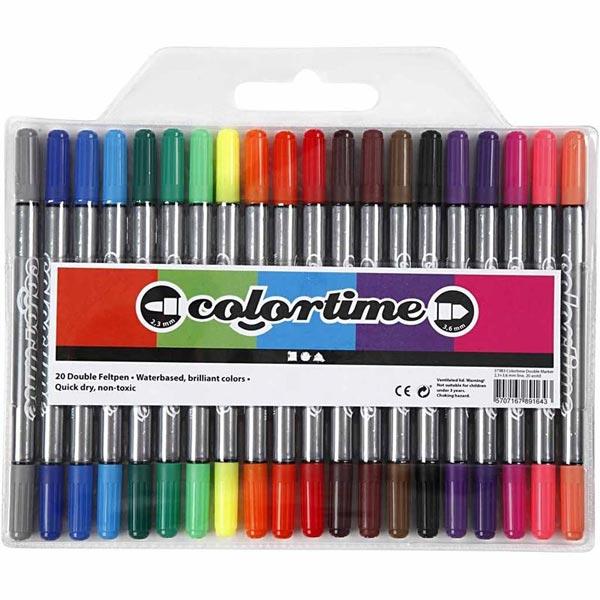 Colortime Dual Feutres [20Pièces ]