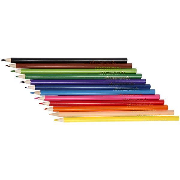 Colortime Buntstifte, 3mm Mine [ 12Stück ]