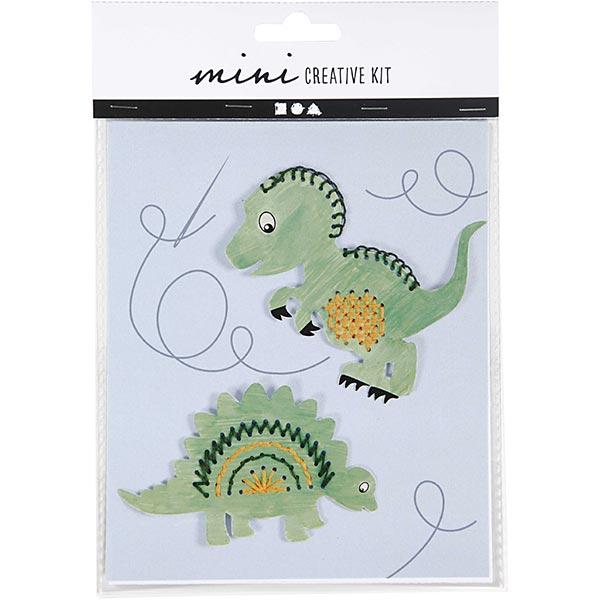 Mini set créatif Modèle de broderie - Dinosaure