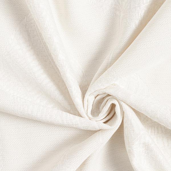 Tissu de décoration jacquard Structure de feuilles – écru