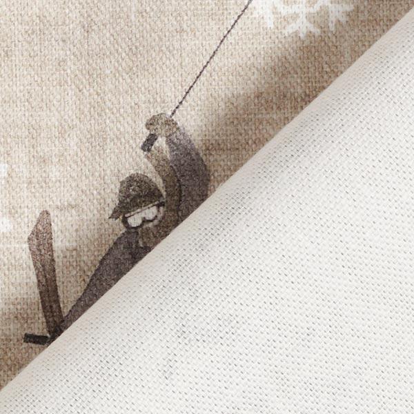 Tissu de décoration mi-panama Skieur – gris