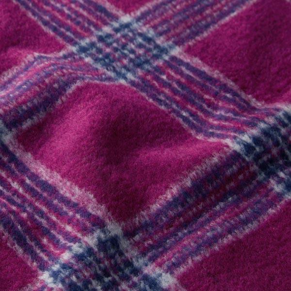 Tissu pour manteau Mélange de laine Rayures verticales – baies/bleu marine