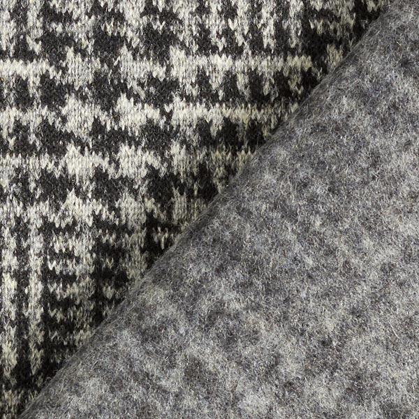 Tricot manteau Mélange de laine Prince-de-Galles – gris/noir
